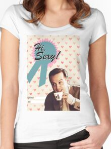 Moriarty Valentine's Day Card Women's Fitted Scoop T-Shirt