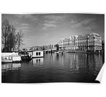 The Amstel Hotel and the river Amstel Poster