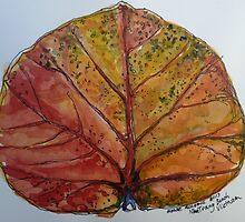 Leaf. Nha Trang Vietnam. Pen and wash 2013Ⓒ by Elizabeth Moore Golding