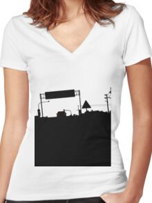 On the Road Women's Fitted V-Neck T-Shirt