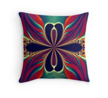 Flame Blossom Throw Pillow