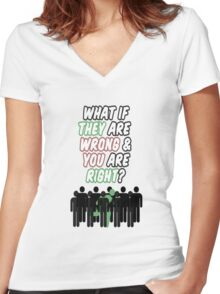 What If? Women's Fitted V-Neck T-Shirt