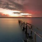 Stormy Sunset - Cleveland Qld Australia by Beth  Wode
