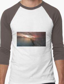 Stormy Sunset - Cleveland Qld Australia Men's Baseball ¾ T-Shirt