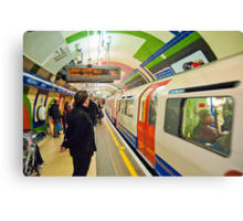 Going Underground: London Piccadily Circus Tube Station Canvas Print