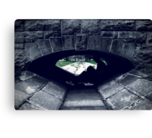 Between Green And Grey Canvas Print
