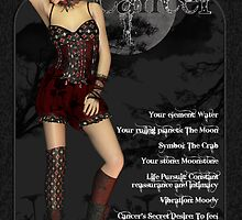 Cancer Gothic Zodiac Birthday Print by Moonlake