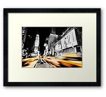 Time Lapse Square Framed Print