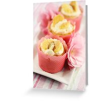 Butterfly Cream Cakes Greeting Card