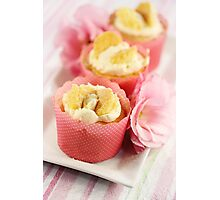 Butterfly Cream Cakes Photographic Print