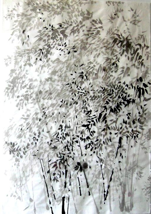 Bambous china ink on china paper by artjeantet