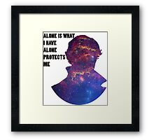 Alone Protects Me Framed Print