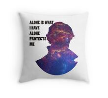Alone Protects Me Throw Pillow
