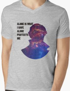 Alone Protects Me Mens V-Neck T-Shirt