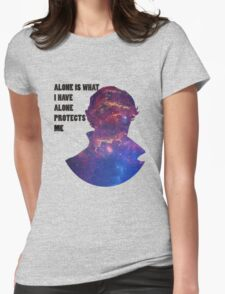 Alone Protects Me Womens Fitted T-Shirt