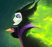 Maleficent - Beautifuly Burning by Randy van der Vlag