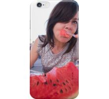 woman eating watermelon iPhone Case/Skin