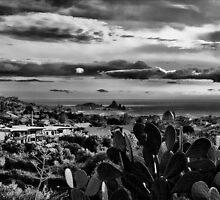 Panoramic view of Aci Trezza and Aci Castello by Andrea Rapisarda