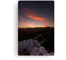 Forestry Sunset Canvas Print