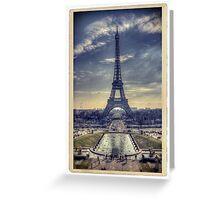 Eiffel Tower Vintage Greeting Card