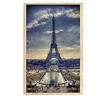 Eiffel Tower Vintage Photographic Print
