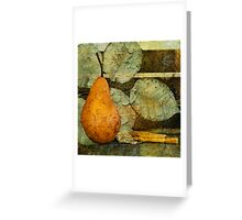 Pear and Leaves Greeting Card