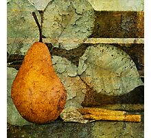 Pear and Leaves Photographic Print