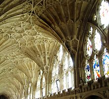 Gloucester Cathedral Cloisters by artfulvistas