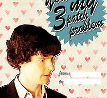 Sherlock Themed Valentine's Day Cards - 3 Patch Problem by thescudders