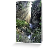 Heaven's Light In Watkins Glen Greeting Card