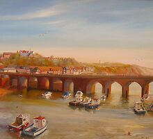 FOLKESTONE - The old bridge by Beatrice Cloake Pasquier