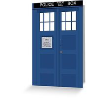 Tardis Greeting Card Greeting Card