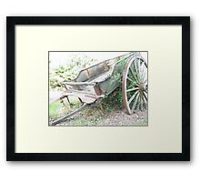 Wagon. Framed Print