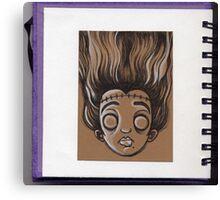 Sketchy Doodle Miss Frankenstein Canvas Print
