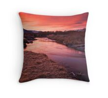 Owens River Sunrise Throw Pillow
