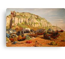 HASTINGS - the fishermen's beach Canvas Print