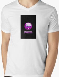 Funny Nerdy Geek Cartoon by 'Chillee Wilson' Mens V-Neck T-Shirt