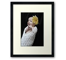 Flower Baby Framed Print