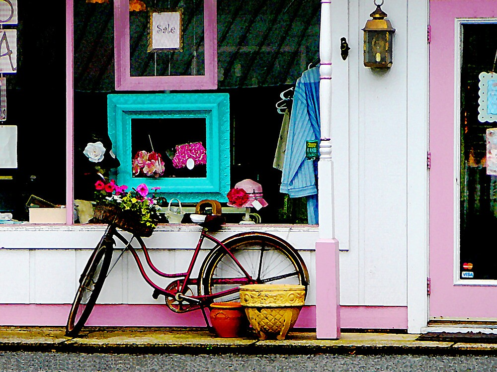 Bicycle by Antique Shop by Susan Savad