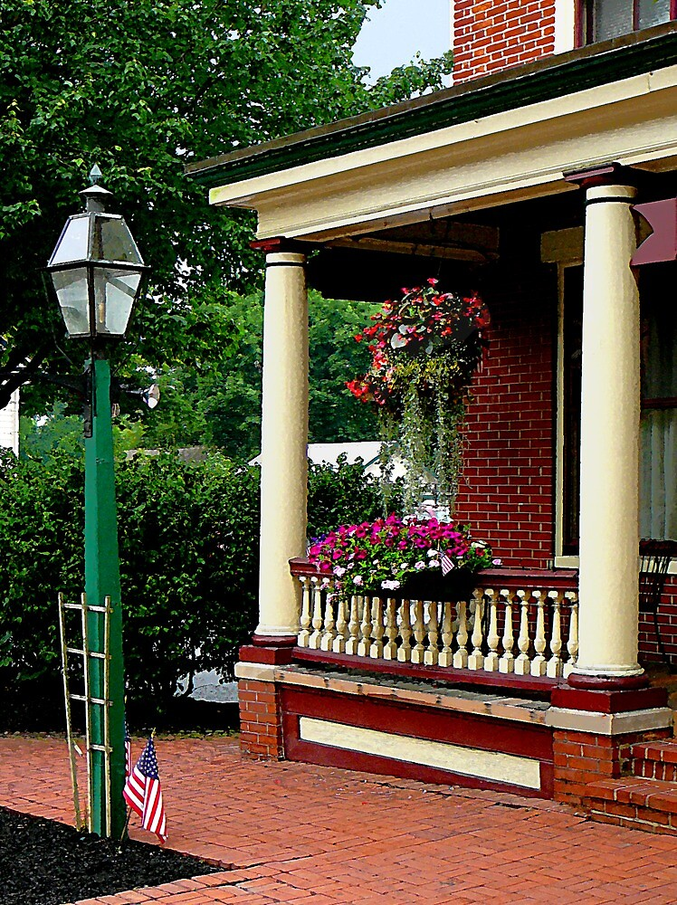 Porch with Hanging Basket by Susan Savad