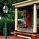 Porch with Hanging Basket by Susan Savad