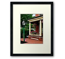 Porch with Hanging Basket Framed Print