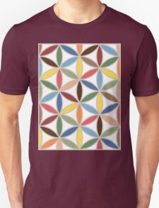 Flower of Life Retro Color Big Pattern Unisex T-Shirt