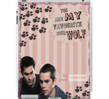 My Teenwolfed Valentine[You Are My Favourite Sour Wolf] iPad Case/Skin