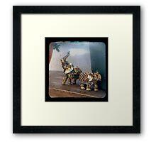 Indian Elephants Framed Print