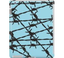 Barbed Wire [Light Blue] by Chillee Wilson iPad Case/Skin