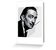 Salvador Dali Black Portrait Greeting Card