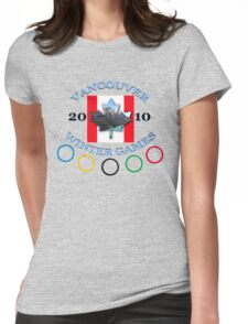 vancouver land flag Womens Fitted T-Shirt