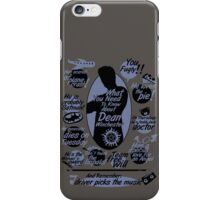 about Dean iPhone Case/Skin