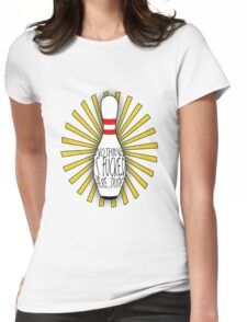 The Big Lebowski DUDE bowling art Womens Fitted T-Shirt